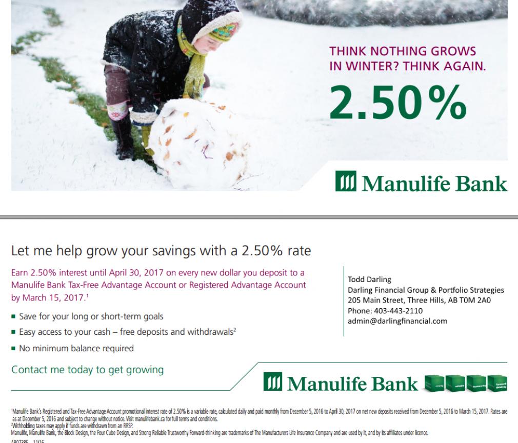 2.5% Growth Until March 15, 2017